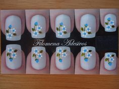 filomena adesivos para unha R$ 5,60 Sunflower Nail Art, One Stroke Nails, One Stroke Painting, Nail Stickers, Nail Arts, Manicure And Pedicure, Pretty Nails, Simple Designs, Finger
