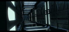 A WIP shot of a EPVII style corridor.