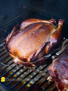 Amazing whole chicken recipe:  How to Smoke A Whole Chicken in the Smoker from ChickenRecipeBox.com