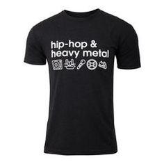 Men's crossfit weightlifting gift idea - Hip-Hop & Heavy Metal - Black - Men's Triblend T-shirt