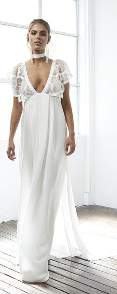 Robe témoin mariage boheme new idee robe mariage pas cher White Wedding Dresses, Bridal Dresses, Wedding Gowns, Reception Dresses, Wedding White, Wedding Reception, Elegant Wedding, Boho Wedding, Boho Stil