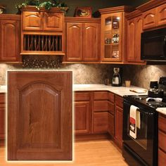 Hickory Cathedral Cabinets. Classic look.