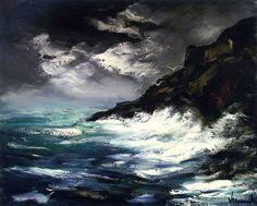 Trazos gruesos olas
