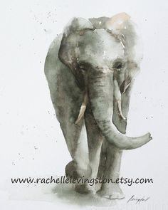Watercolor elephant.
