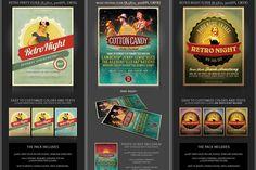 SALE: 6Retro Flyer Templates v.2 by Cruzine on Creative Market