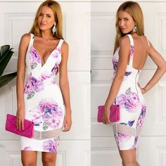 New Stylish Lady Women's Fashion Sleeveless V-Neck Sexy Slim Package Hip Dress $7.37