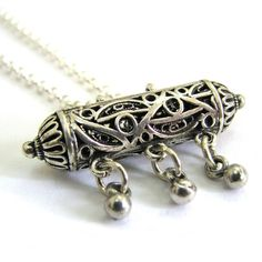 Amulet Case Necklace 925 Sterling Silver Artisan by adiaart