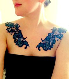 My epic lace tattoos. Artwork and ink by Resp. Art Machine Productions in Philadelphia.