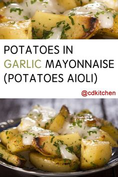 Potatoes In Garlic Mayonnaise (Potatoes Aioli) - Recipe is made with salt, milk, potatoes, cooking oil, mayonnaise, parsley, garlic |  CDKitchen.com
