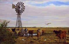 Landscape of South African bush, by Lute Vink.