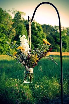 Great idea for wild flowers can imagine these in a country garden or even an outdoor wedding