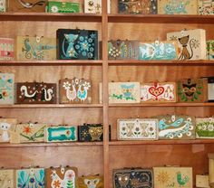 Collection of Enid Collins wood box bags