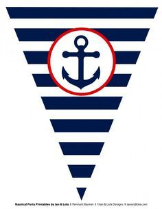 Free Nautical Party Printables from Ian & Lola Designs   Catch My Party