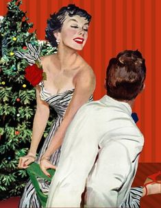 """I Want a Man"" by Joe deMers (April 15, 1950) Christmas Cover, Retro Christmas, Vintage Holiday, Xmas, Vintage Illustration Art, Christmas Illustration, Pin Up, Up Girl, Cinema"