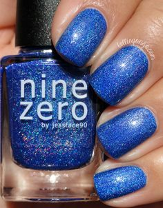 KellieGonzo: Nine Zero Lacquer ROY G BIV Collection Swatches & Review