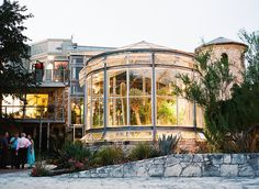 The Greenhouse at Driftwood is made up of several outdoor spaces with lush landscapes, century old oaks, and two multi-story greenhouses. venue in Austin, TX