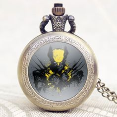 Hot Popular Movies X-Men Extension Wolf Logan Theme Men Pocket Watch Retro Pendant Necklace Fob Watch Chain Gift Free Shipping
