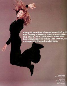 FAME January 1989 Carly Simon jump shot