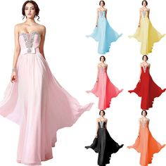 Sweetheart Beading Prom Dress Cocktail Party Ball Gown Evening Bridesmaid Dress