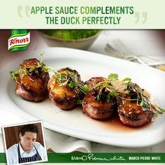 Marco's Honey-glazed Duck Breasts with Apple Sauce would make an ...