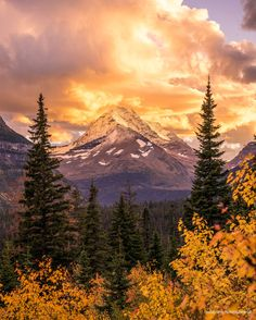 Firey Sunset in Glacier National Park Montana. [OC][37744717] #reddit