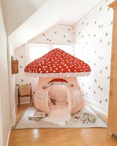 Baby Room Design, Home Room Design, A Frame Tent, Cool Kids Bedrooms, Estilo Indie, Kawaii Room, Big Girl Rooms, Kid Spaces, Room Themes