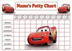 potty training chart printable cars | PERSONALISED-A4-CARS-MCQUEEN-POTTY-TOILET-REWARD-CHART-STICKERS ...
