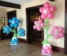 Balões flor entrada