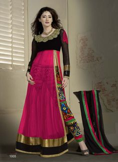 VandV Pink Designer Collection Anarkali Suits-Salwar Suit-V & V shop