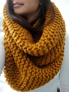 LIMITED EDITION COLOR Hope Huge Oversized Chunky Rib by LuluLuvs, $70.00 fall scarf amber mustard scarf knit handmade bulky scarf