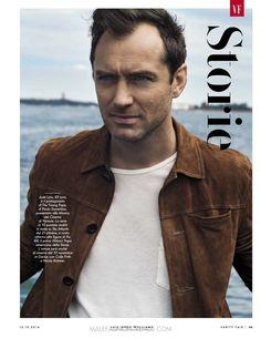El actor Jude Law, actor de The Young Pope aparece en portada de la reciente edición d Vanity Fair, fotografiado por Greg Wiliams