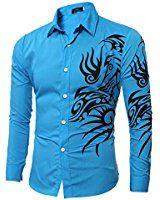 Jeansian Hombre Camisas Solid manga larga Slim Fit Moda Hombre Casual Camisas  mangas largas 8371 ArmyGreen L  Amazon.es  Ropa y accesorios ec79e18ef04c5
