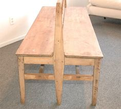19THC SCHOOL MASTER BENCH FROM MAINE   From a unique collection of antique and modern benches at http://www.1stdibs.com/furniture/seating/benches/