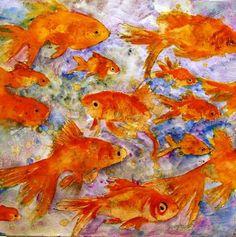 Art: Goldfsh by Artist Miriam Schulman
