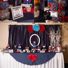 Uniquely Your Event & Sweet Treats - Professionally designed sweet treat displays!!  Blue and red candy buffet