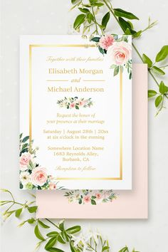 wedding invitations. All prices include design, print /& delivery Green Leaves