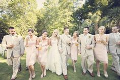 Love this happy bridal party shot.