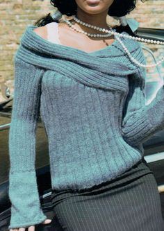 198b8ef83a5 Original Vintage Knitting Pattern Ladies Aran Shoulder Shawl Collar Sweater  Jumper Pullover Sizes 12-16
