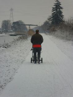 Wandeling in de sneeuw.