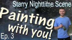 This week in Episode 3 of the Starry Nighttime Scene oil painting, we are adding a small cabin! If you missed the previous voting, please be sure to vote for the next part of the painting! To vote, please visit: www.paintwithkevin.com/vote