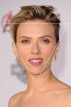 The inverted triangle face shape has a wide forehead and narrow, pointy chin…