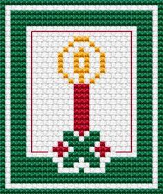 Christmas Card Mini cross stitch pattern