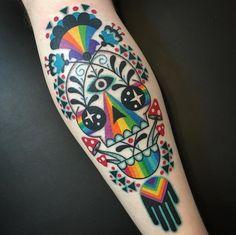 Bear Tattoos, Skull Tattoos, Body Art Tattoos, Pretty Tattoos, Love Tattoos, Beautiful Tattoos, Tatoos, Psychedelic Tattoos, Alien Tattoo
