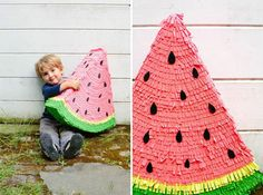 DIY Watermelon Piñata by Oh Happy Day