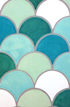 Mercury Mosaics   Moroccan Fish Scales - Mercury Mosaics