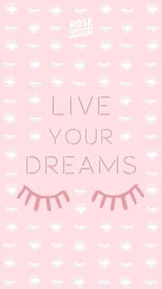 fond d'écran Rose Carpet Live your Dreams IPHONE6 verrouillé