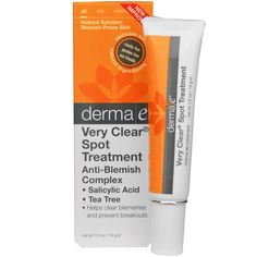 Derma E, Very Clear Spot Treatment Anti-Blemish Complex, 1/2 oz (14 g)