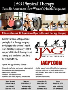 JAG Physical Therapy Proudly Announces New Women's Health Programs!