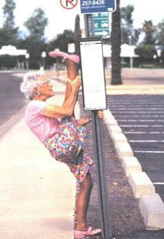 You're never too old to exercise…