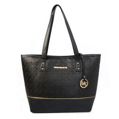 Michael Kors Jet Set Perforated Medium Black Totes Hot Sale Online With High Quality, Big Discount And Fast Delivery.